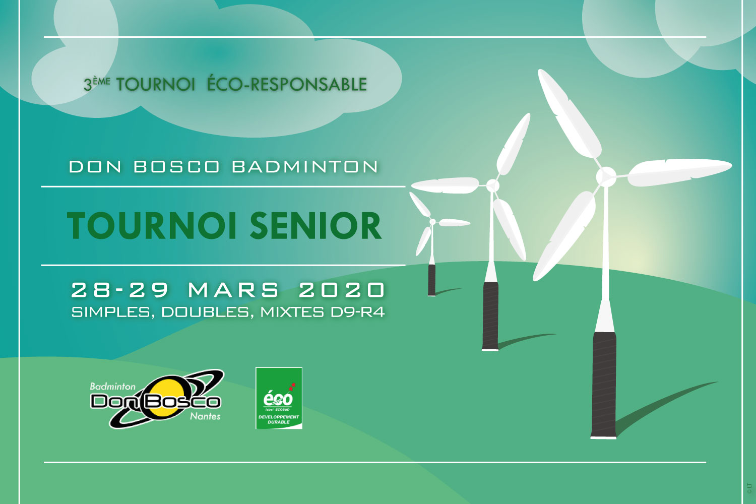 Tournoi senior badminton Don Bosco 2020